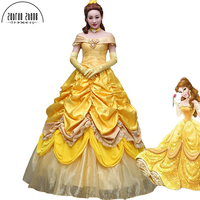 New Fashion Beauty And The Beast Dress Princess Belle Top Quality Cosplay Costume Dress For Women