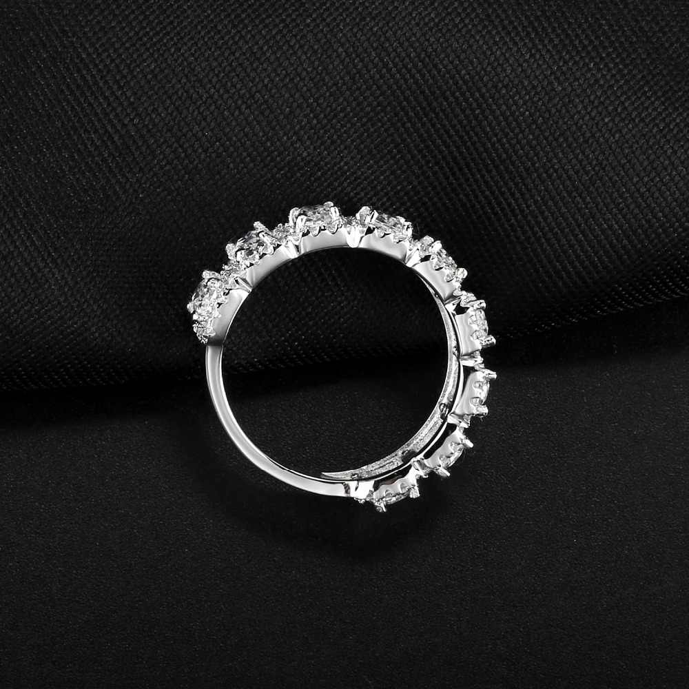 a2dcb24d4ee57 Gem's Ballet Wedding Cubic Zirconia Channel Set Ring 925 Sterling Silver  Engagement Promise Rings For Women Fine Jewelry