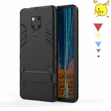 For Huawei Mate 20X Case Silicone + Plastic Kickstand Anti-knock Cover Funda BSNOVT