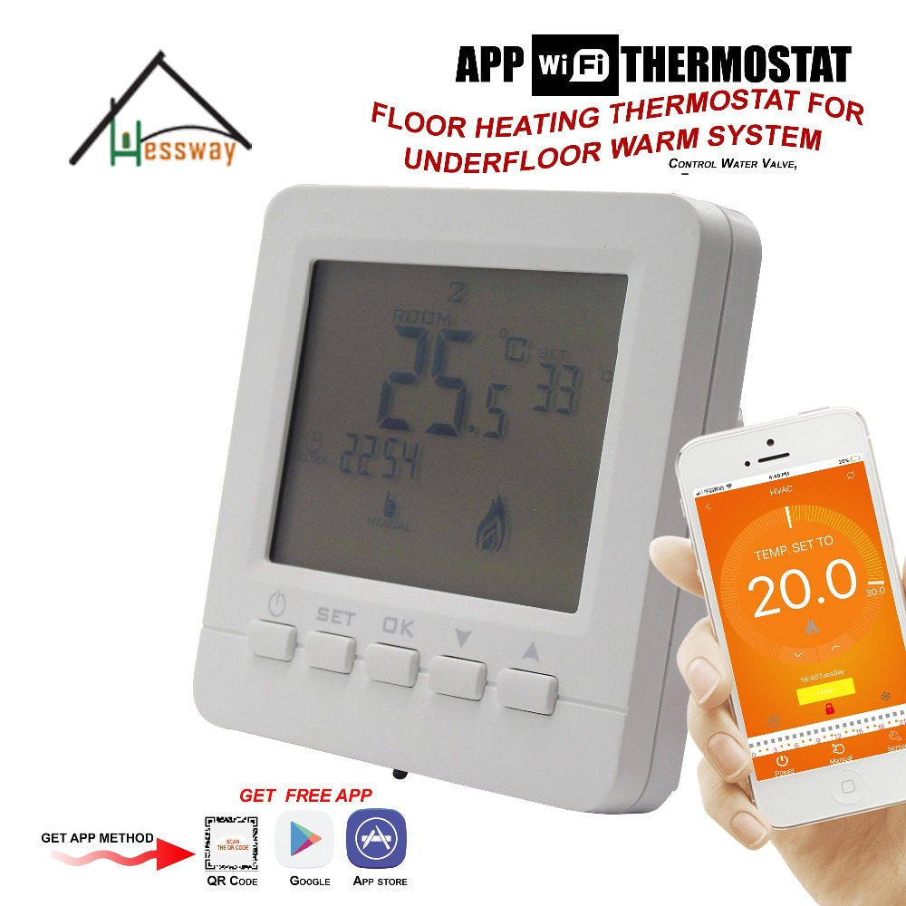 Water valve,Electric actuator,radiator by APP ISO Android Remotely programmable EU wifi Heating Thermostat for Warm Floor hessway app by smartphone 2p programmable fan valve room thermostat wifi fcu for heating cooling