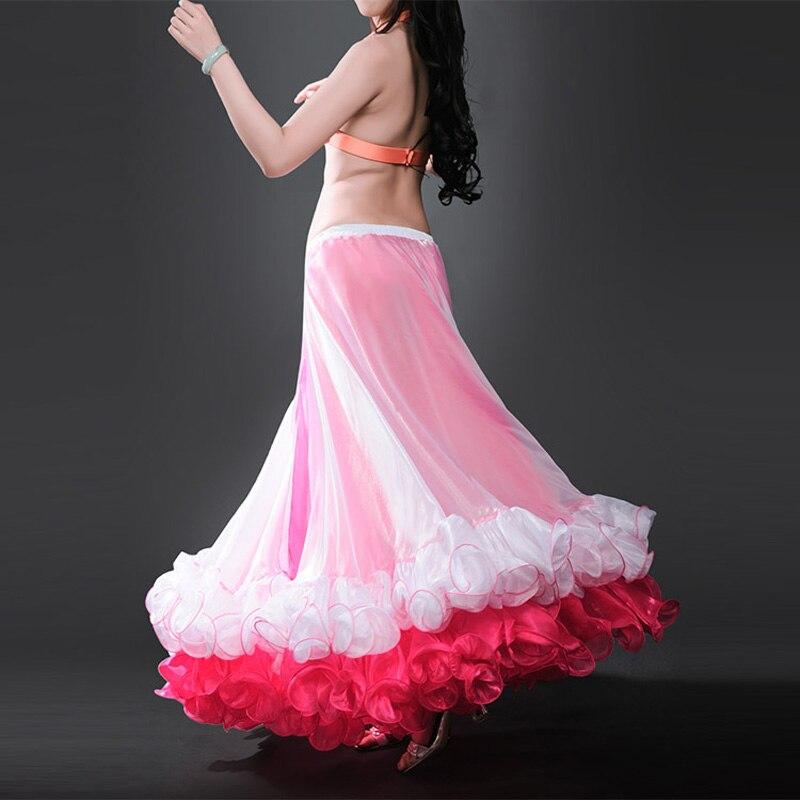 2019 新着シフォン女性のベリーダンススカートプロフェッショナルベリーダンススカート  グループ上の ノベルティ & 特殊用途 からの ベリーダンス の中 2