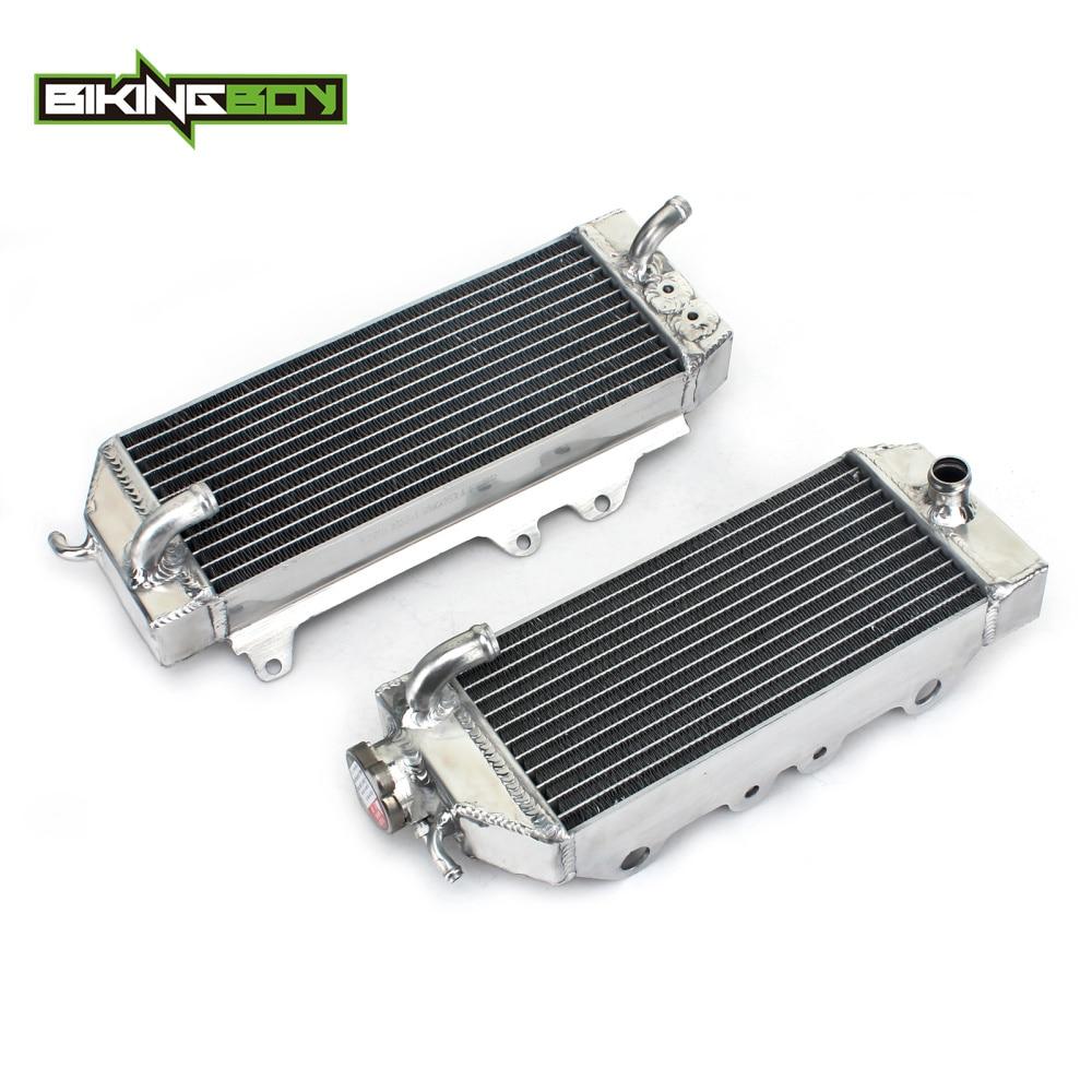 BIKINGBOY L / R Aluminium MX Offroad Engine Radiator Water Cooling Cooler for Kawasaki KX250F KXF250 KXF 250 2012 2013 14 15 16