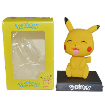 12cmPokemon Go Japanese Popular Animation Cute Pikachu Shaking Action Figure Characters Map Collection Birthday Gift Doll pikachu funko pop