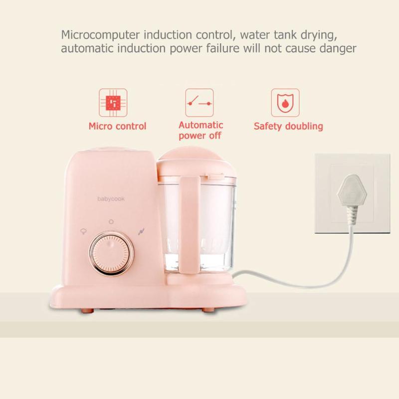 Кухня Мелкая бытовая техника Кухонные комбайны DIY Электрический нагрев здоровый производитель для новорожденных малышей твердого сока - Цвет: Розовый