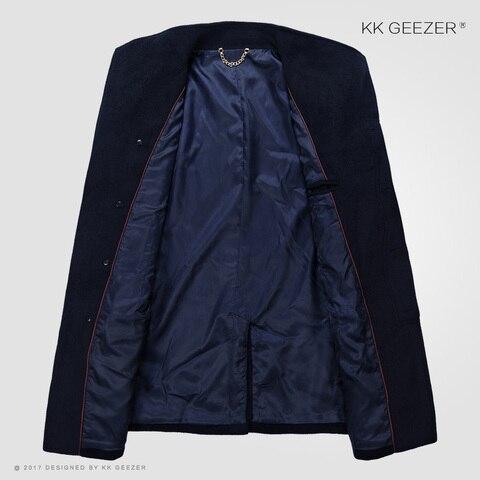 Mens Coat Winter Wool Coat Cashmere Long Jackets Section Woolen Trench Coat Blends Fashion Duffle Overcoats Mandarin Business Multan