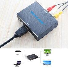 VOXLINK 1080P HDMI to CVBS /S-Video AV Adapter Converter Aluminum Alloy HDMI to RCA Audio Video Converter Box Support NTSC/PAL