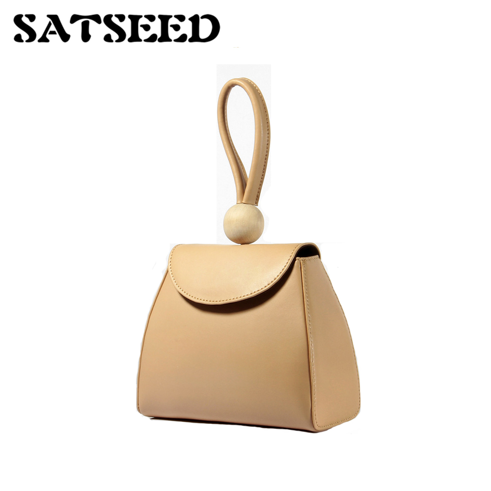 Hand Bag Fashion Simple Leather Hand-painted Leather Handbag Color Small Bag
