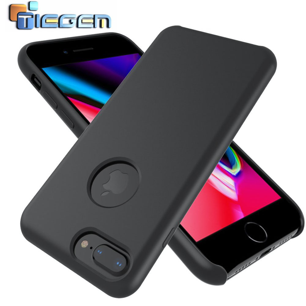 TIEGEM Open windows for LOGO <font><b>Original</b></font> Silicone <font><b>Case</b></font> for <font><b>iPhone</b></font> <font><b>8</b></font> <font><b>8</b></font> Plus For Apple Phone Cover For <font><b>iPhone</b></font> <font><b>8</b></font> Plus image