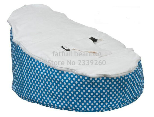 Outstanding Details About Cover Only No Fillings Aqua Blue Dots Baby Bean Bag Chair Sleeping Beanbag Bralicious Painted Fabric Chair Ideas Braliciousco
