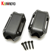 KEMiMOTO For BMW R1200GS LC ADV F700GS F800GS Engine Protection Bumper Decorative Block Dismantling Installation 25mm Diameter