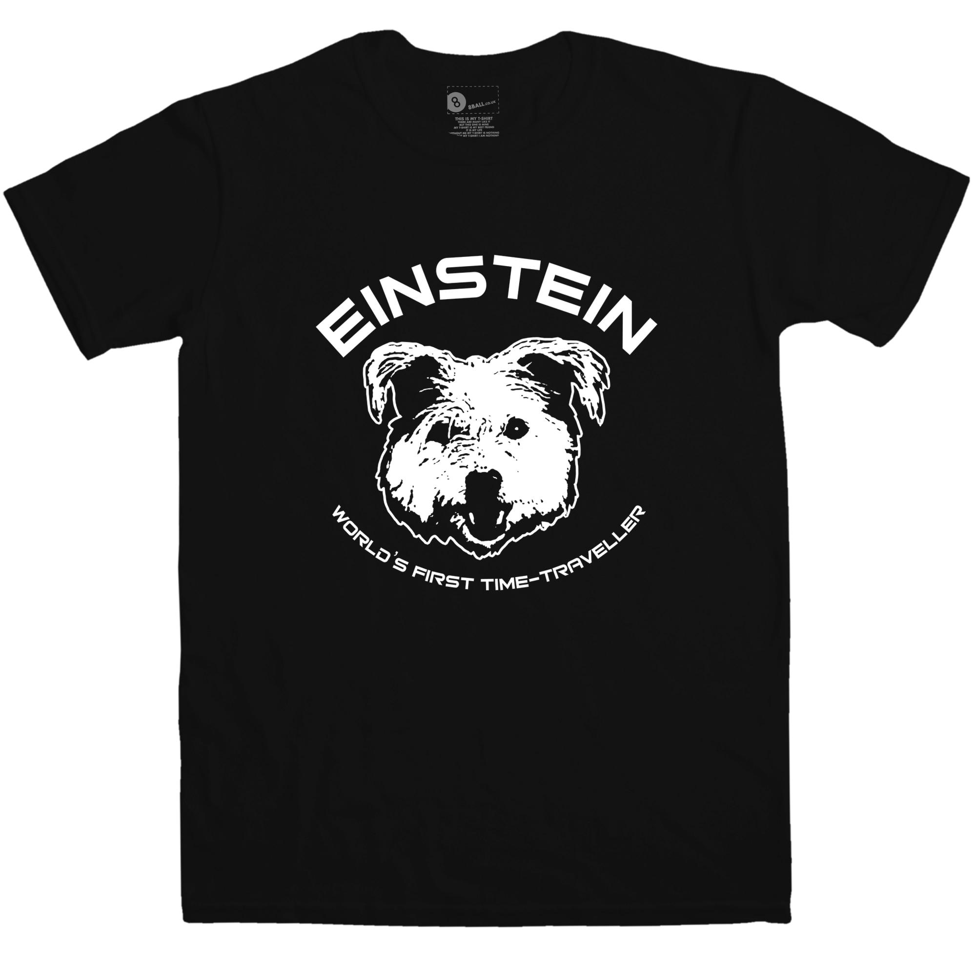 New Man T Shirts short Sleeve Mens T Shirt - Einstein First Time Traveller