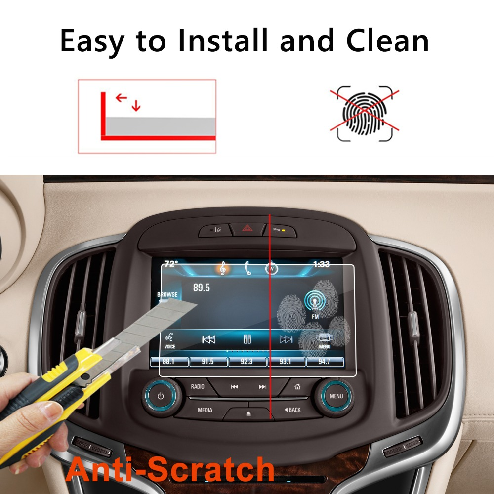 8X-SPEED for 2015 Honda CRV Car Navigation Screen Protector HD Clarity 9H Tempered Glass Anti-Scratch in-Dash Media Touch Screen GPS Display Protective Film