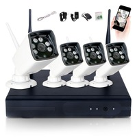 4CH 960P HD WI FI NVR Security Wireless Network Camera System Night Vision IP Surveillance Camera