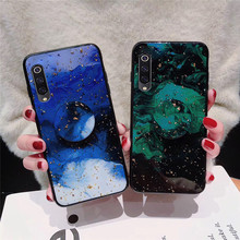 luxury gold foil phone case for Xiaomi Mi 9 8 lite pro Explorer Edition 5X 6X A1 A2 Bling cloud glitter holder stand back cover