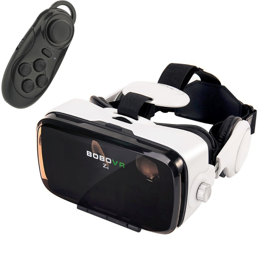 Moveksi BoBo VR Z4 3D VR GLASS Head Mount Virtual Reality 3d Video Glasses for 4~6''Android iOS Smartphones with game controller