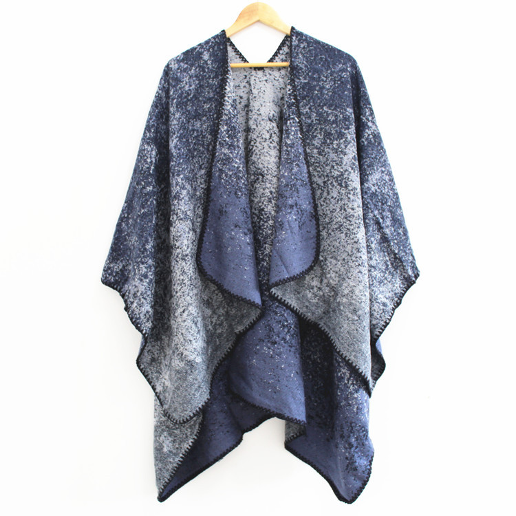 SUMEIKE Brand 2018 Women Scarf High Quality Creative Cashmere Winter Ponchos and Capes Thick Wool Warm Knit Lady Pashmina Stoles