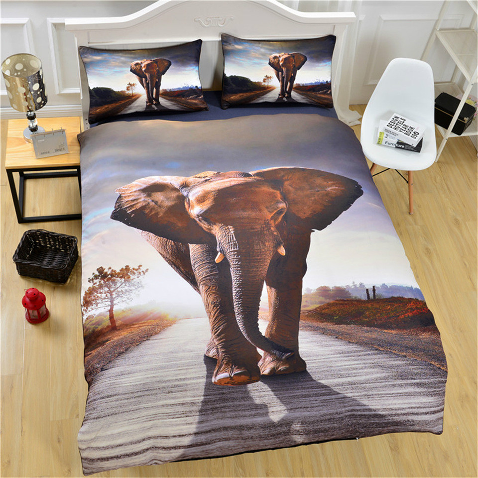 Mandala Literie Ensemble Elephant Messenger Indien Housse De Couette