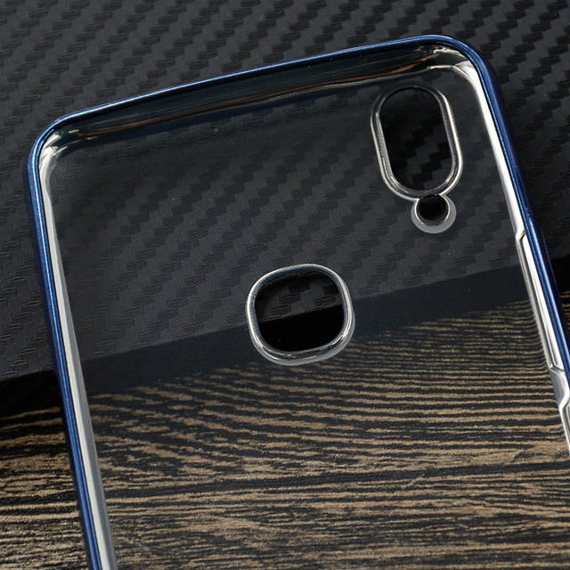 official photos 06743 9fb0f For Vivo V9 Case Luxury Clear Plating TPU Protective Back Cover Case For  Vivo V9 Youth Y85 Ultra Thin Soft Silicon Cover (E0526)