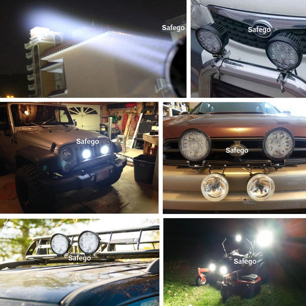 10x Safego 4inch 12v 24v 27W led ledlight light spot ջրհեղեղ - Ավտոմեքենայի լույսեր - Լուսանկար 5