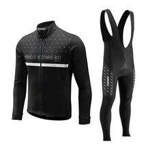 Morvelo Conjunto de pantalones y camiseta de ciclismo para hombre, ropa larga para bicicleta de carretera, MTB, mallot, Primavera, 2018