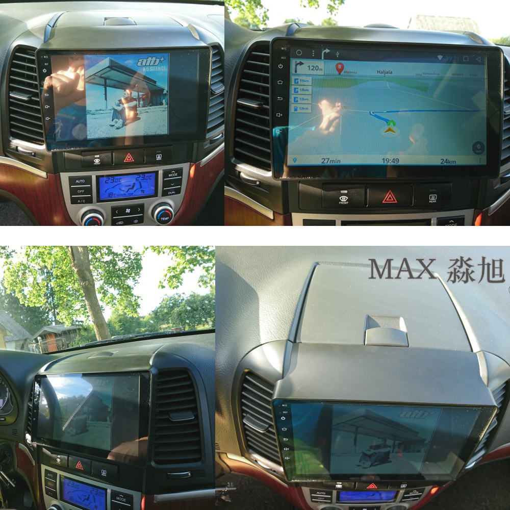 Excellent MAX Android 8.1 2G 32G 8 Core Car DVD Player for Hyundai santa fe 3/4holes with 2.5D+IPS Screen car stereo radio RDS Maps swc 5