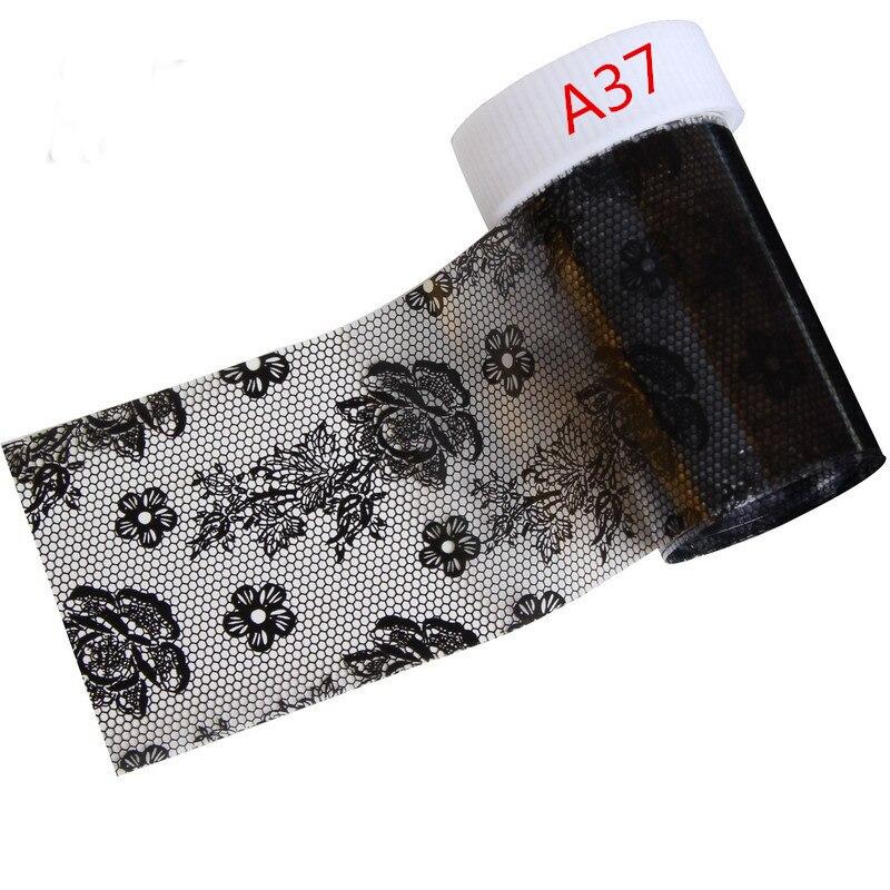 21 Estilos Opcional Sexy Black Lace Folha De Prego Transferncia Art Foils Etiqueta -1500