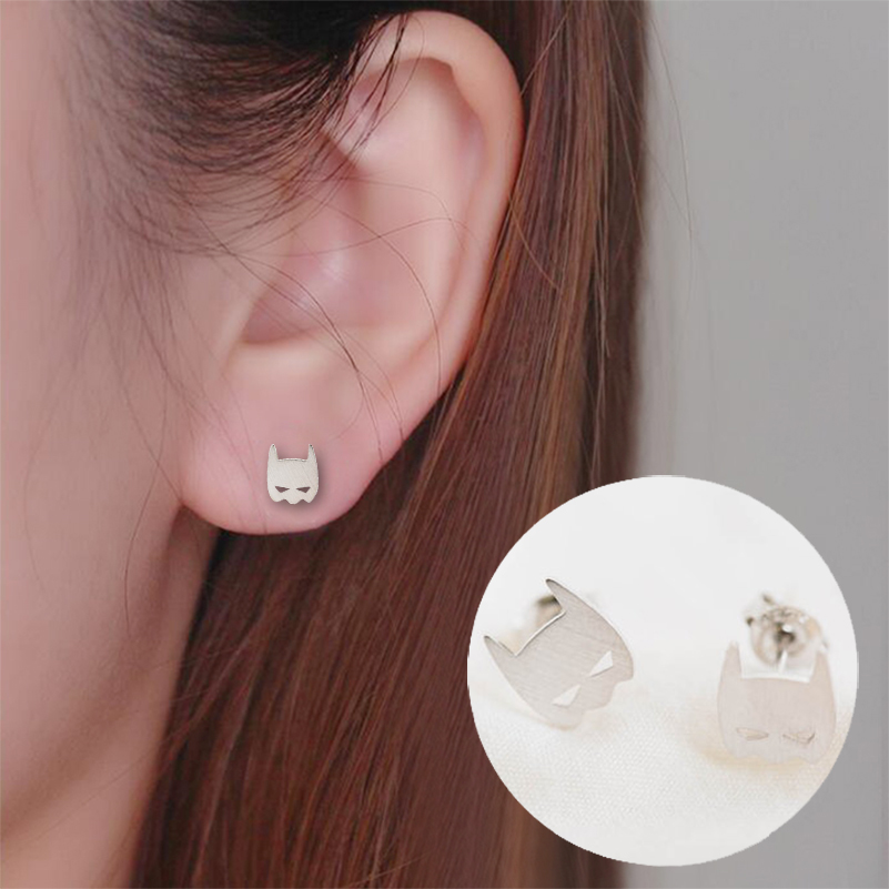 9efd99843 Shuangshuo 2017 Summer Cute Ethnic Comic Hero Batman Cool Stud Earrings  Fashion Jewelry Personality Style for
