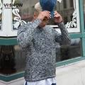 VIISHOW 2016 Hombres Camiseta Larga Ropa de Marca Remata camisetas hombre O-cuello de la Blusa camiseta homme Casual Manga Larga de Algodón Delgado camiseta