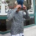 VIISHOW Hombres Camiseta Larga Marca Hip Hop Pullover Camisa de Los Hombres Camisa de Algodón Hombres de Negocios Ropa Ropa TCY5063