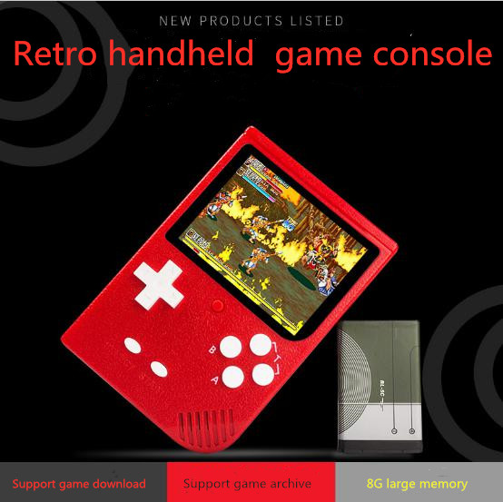 2019 Hot selling Coolbaby RS69 3 inch screen retro handheld game console 8G 2000 built in games support TF Card game archive image
