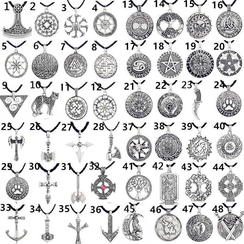 Chandler Viking Valknut Vòng Đeo Cổ Cho Nam Nữ Phong Cách Khoa Học Viễn Tưởng Punk Illuminati Ngoại Giáo Tôn Giáo Tây Tạng Bùa Hộ Mệnh Ai Cập Trang Sức
