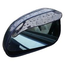 цена на 2 Pcs/lot PVC Car Rear View Mirror Sticker Rain Eyebrow Mirror Rain Shield Shade Cover Car-Styling Rainproof Blades Universal
