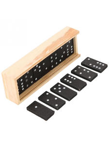 Table-Game Toys Domino-Board Educational-Toys Wooden Gifts Travel Children for Funny
