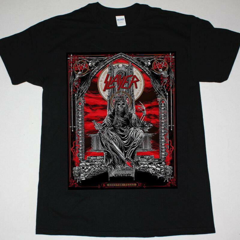 SLAYER shirt <font><b>show</b></font> <font><b>tonight</b></font> in Houston, Texas T-SHIRT RPRINT 2019 New Short Sleeve Men T shirt image
