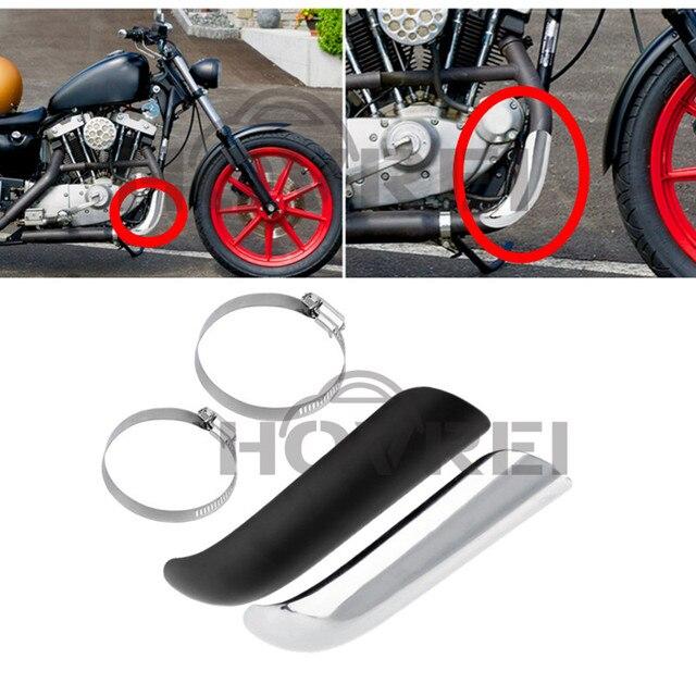 Motorrad Hitzeschild Kurve Auspuff Rohr Warmedammung Fersenschutz Fur Harley Honda Suzuki Chopper Cruise