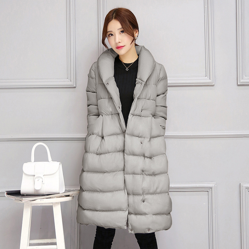 Hot sale 2017 Winter Female Warm Clothes High Quality Purple Overcoat Plus size Jacket Women Long