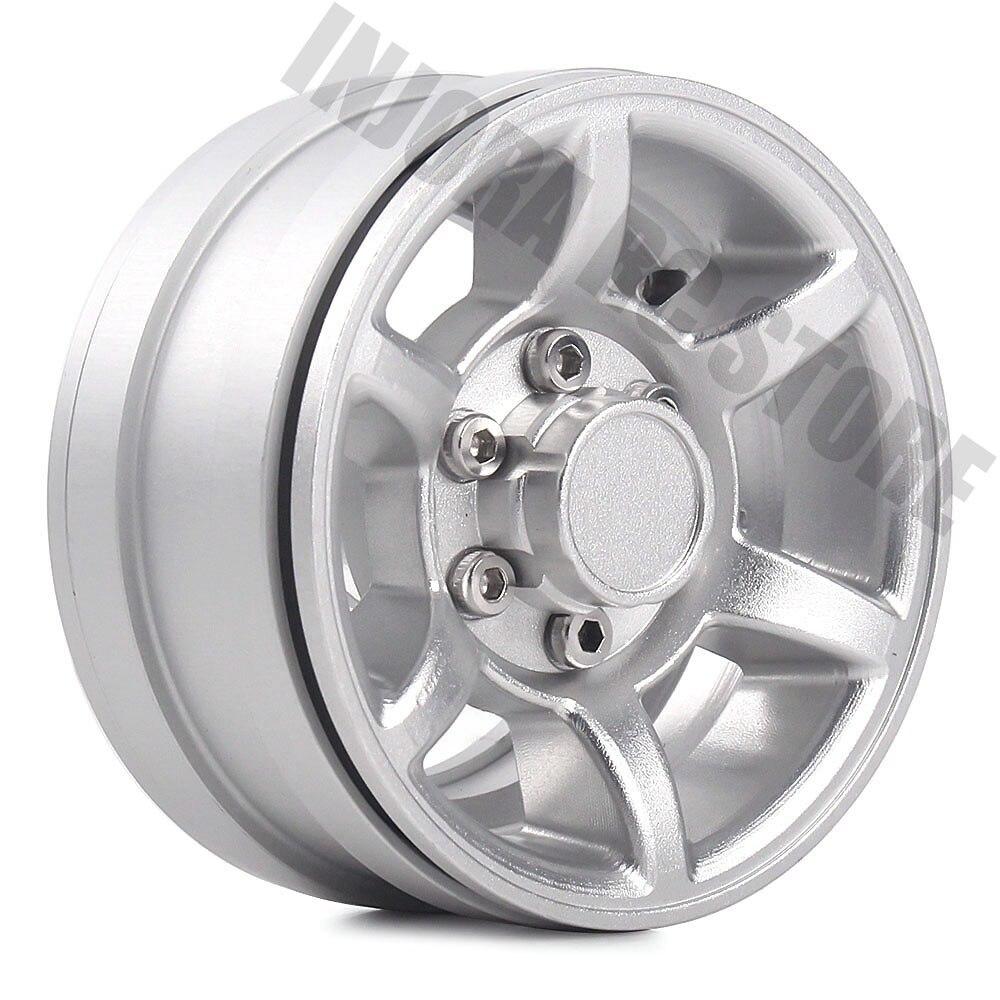 Metal RC Car Aluminum Alloy 1.55 Inch Wheel Rim BEADLOCK For D90 TF2 Tamiya CC01 LC70 LC80