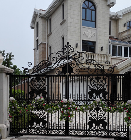 Pedestrian Gate Pre Made Metal Gates Wrought Iron Outdoor Gates