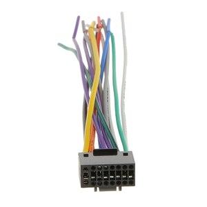 Image 2 - Автомобильный радиоприемник 16 см, стерео провод, штекер, кабель с 16 контактным разъемом для Kenwood, отвечает EIA цветным кодам, автомобильные аксессуары