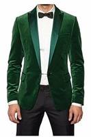 Mens Green Velvet Smoking Jacket Luxury Wedding Dinner Party Tuxedo Coat Blazer wedding suits for men