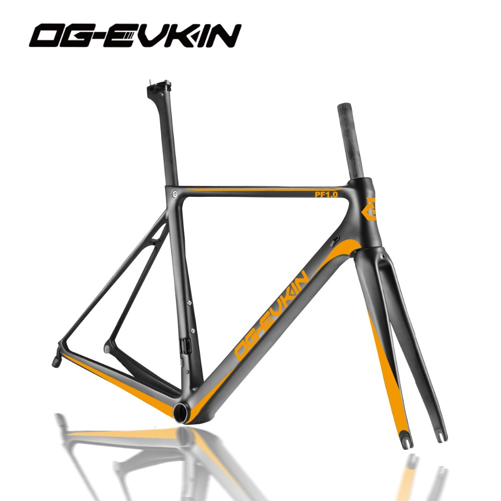 OG-EVKIN Carbon Bicycle Frames Road Bike Racing Frameset Fork Headset Seat Post Clamp Glossy/Matt DI2 Mechanical 46 49 52 54cm og evkin carbon road bike aero frame with integrated handlebar bicycle cycling sports parts bb86 di2 max 25mm tire glossy matt