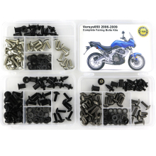 For Kawasaki Versys 650 2006 2007 2008 2009 Motorcycle Full Fairing Bolt Kit Complete Clips Bodywork Screws Steel