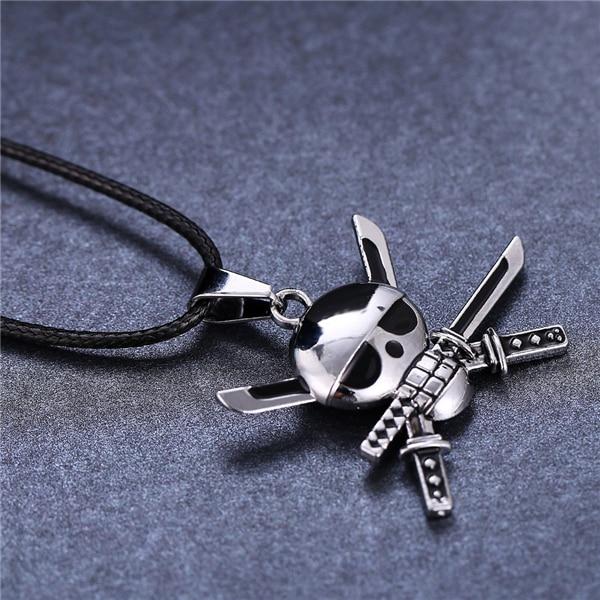 One Piece Roronoa Zoro Skeleton Skull Necklace