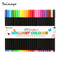 24 colors/set 0.4 Mm Fineliner Pens Fine Draw Point Art Marker Pen Water Based Ink design Multicolours Graphic Drawing supplies