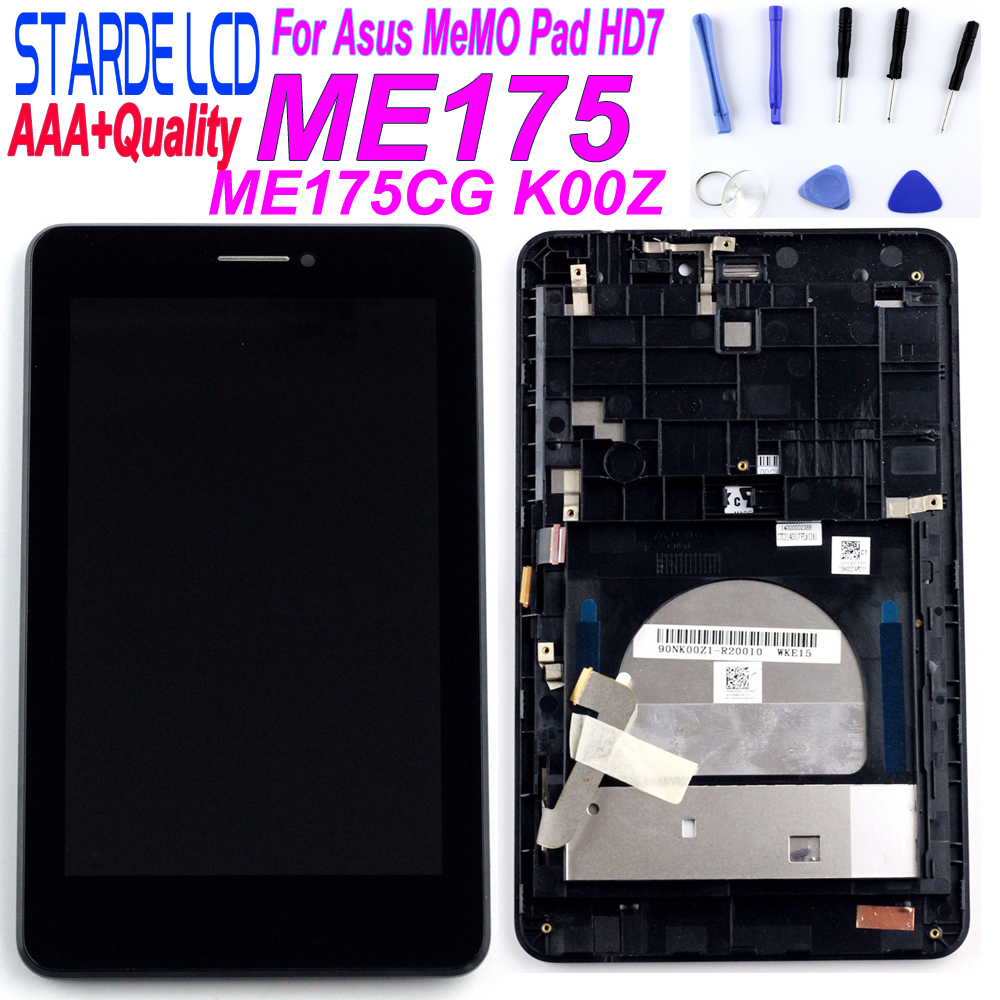 Original Parts For Asus MeMO Pad HD7 ME175CG ME175 K00Z LCD Display Matric Touch Screen Digitizer Sensor Assembly With Frame