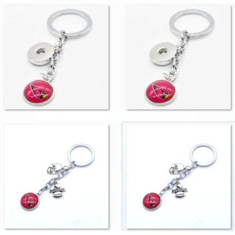2018 Fashion Football Key Chain Arizona Cardinals Charm Keychain Car Keyring for Women Men Keyrings Gifts Party Wedding