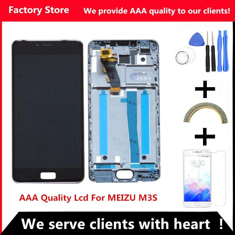 imágenes para QYQYJOY AAA Calidad LCD Para MEIZU M3S Pantalla Lcd Con Marco Nuevo de Reemplazo de Pantalla Para MEILAN 3 S Digiziter Aseembly