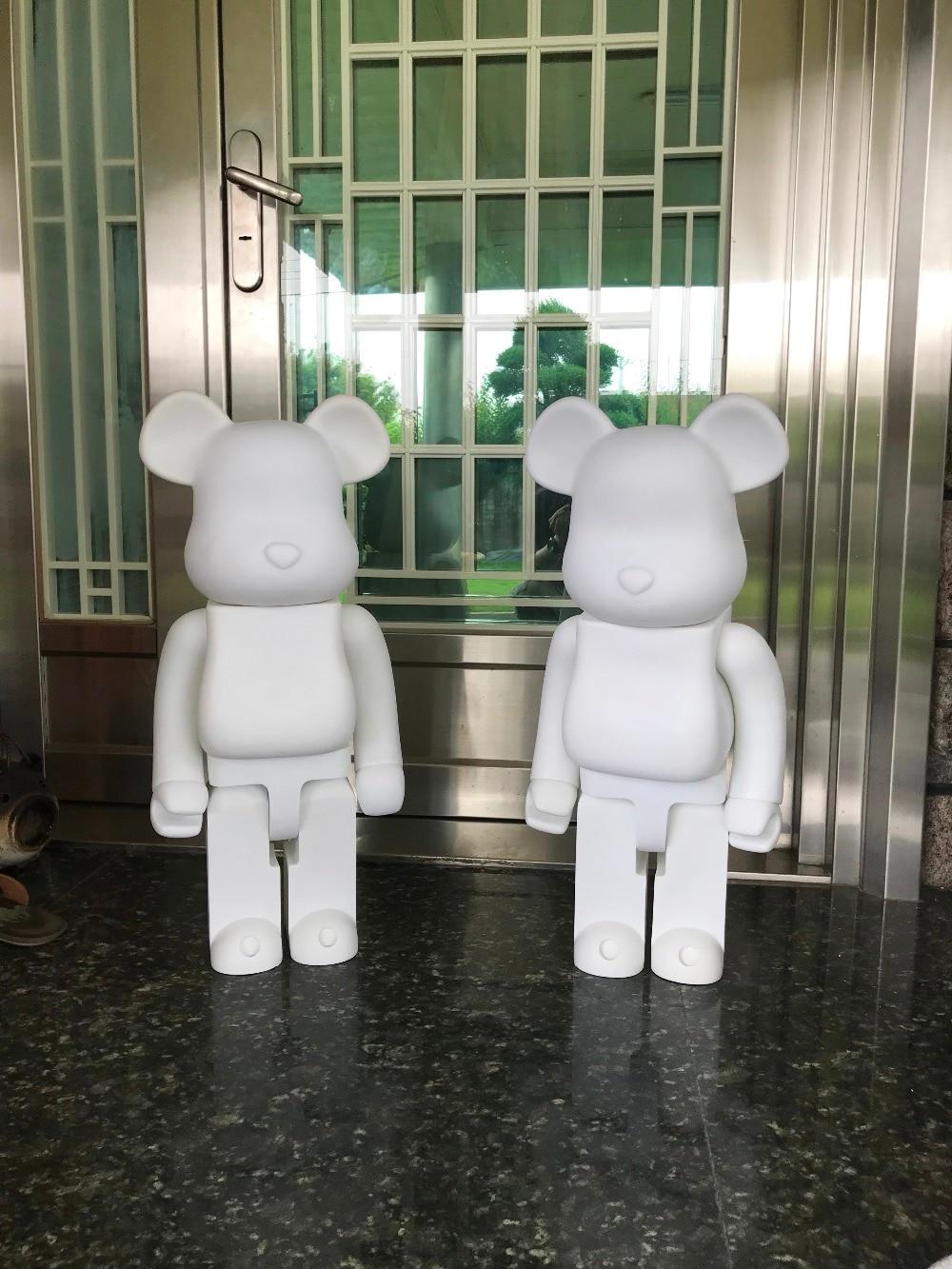 Versione limitata 1000% bearbrick orso @ mattoni 70 cm Vernice di DIY Action Figure IN PVC di Colore Bianco Con Il Sacchetto Del Opp