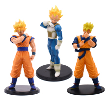 Anime Dragon Ball Z Super Saiya ROS Resolution of Soldiers Vegeta Goku Gohan PVC DragonBall Action Figure Model Toys Gift