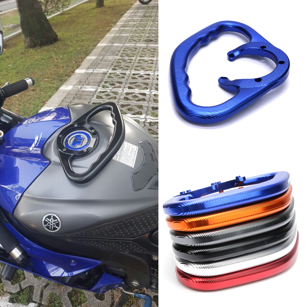 Passenger ручками для Yamaha R1 R6 FZ07 MT03 MT07 MT09 MT-25 MT-03 Мотоцикл с ЧПУ Ручка бак захватить бар ручки подлокотник